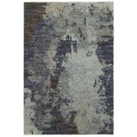 Oriental Weavers Evolution Floral Impressions 3-Foot 3-Inch x 5-Foot 2-Inch Area Rug in Navy