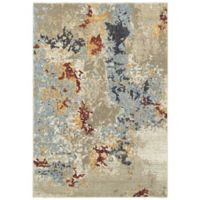 Oriental Weavers Evolution Floral Impressions 3-Foot 3-Inch x 5-Foot 2-Inch Area Rug in Beige