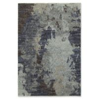Oriental Weavers Evolution Floral Impressions 5-Foot 3-Inch x 7-Foot 3-Inch Area Rug in Navy