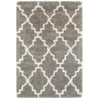 Oriental Weavers Henderson 7-Foot 10-Inch x 10-Foot 10-Inch Shag Area Rug in Grey/Ivory