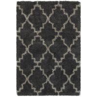 Oriental Weavers Henderson 7-Foot 10-Inch x 10-Foot 10-Inch Shag Area Rug in Charcoal/Grey