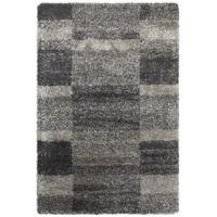 Oriental Weavers Henderson Geometric 3-Foot 10-Inch x 5-Foot 5-Inch Shag Area Rug in Grey