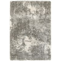 Oriental Weavers Henderson Abstract 3-Foot 10-Inch x 5-Foot 5-Inch Shag Rug in Grey/Ivory
