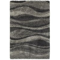 Oriental Weavers Henderson Waves 3-Foot 10-Inch x 5-Foot 5-Inch Area Rug in Grey