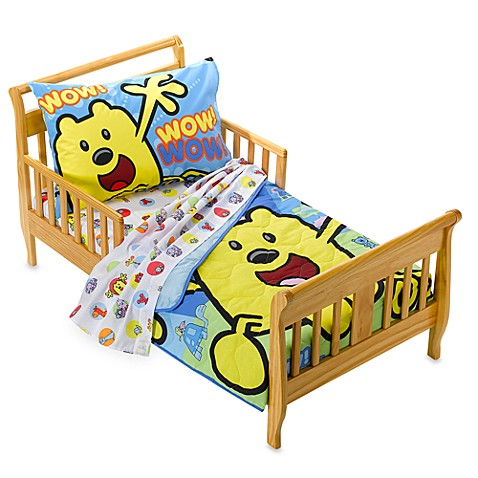 wow wubbzy 4 piece toddler bed set by baby boom bed bath beyond. Black Bedroom Furniture Sets. Home Design Ideas