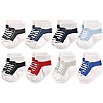 Hudson Baby® Size 0-6M 8-Pack Sneakers Short Crew Socks
