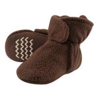 Hudson Baby® Size 4T Fleece Scooties Sock in Brown