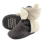 Hudson Baby Size 6-12M Fleece Lined Scooties in Charcoal/Cream