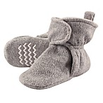 Hudson Baby® Size 0-6M Fleece Scooties Sock in Heather Grey