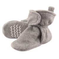 Hudson Baby® Size 12-18M Fleece Scooties Sock in Heather Grey