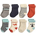 Hudson Baby® Size 6-12M 8-Pack Fox Terry Rolled Cuff Socks