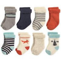 Hudson Baby® Size 12-24M 8-Pack Fox Terry Rolled Cuff Socks