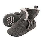Hudson Baby Size 0-6M Sherpa Lined Scooties in Heather Charcoal