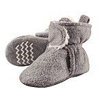 Hudson Baby Size 0-6M Sherpa Lined Scooties in Heather Grey