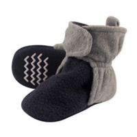 Hudson Baby® Size 6-12M Fleece Scooties Sock in Navy/Grey