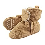 Hudson Baby® Size 6-12M Sherpa Lined Scooties with Non-Skid Bottoms in Tan