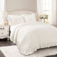 Lush Decor Reyna 2-Piece Twin XL Comforter Set in White