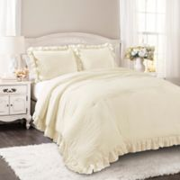 Lush Décor Reyna 3-Piece Full/Queen Comforter Set in Ivory