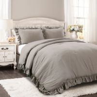 Lush Décor Reyna 3-Piece Full/Queen Comforter Set in Grey