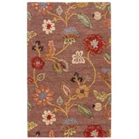 Jaipur Blue Collection Floral 3-Foot 6-Inch x 5-Foot 6-Inch Rug in Brown/Yellow