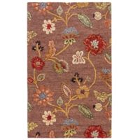 Jaipur Blue Collection Floral 5-Foot x 8-Foot Area Rug in Brown/Yellow