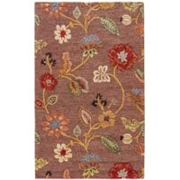 Jaipur Blue Collection Floral 8-Foot x 10-Foot Area Rug in Brown/Yellow
