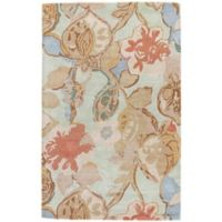 Jaipur Blue Collection Floral 2-Foot x 3-Foot Accent Rug in in Blue/Red