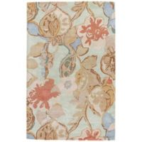 Jaipur Blue Collection Floral 5-Foot x 8-Foot Area Rug in in Blue/Red