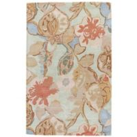 Jaipur Blue Collection Floral 8-Foot x 10-Foot Area Rug in in Blue/Red