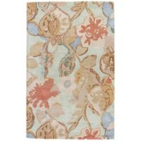 Jaipur Blue Collection Floral 9-Foot x 12-Foot Area Rug in in Blue/Red
