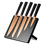 Titan 5-Piece Knife Block Set in Copper
