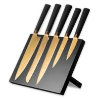 Viners Titan 5-Piece Knife Block Set in Gold