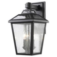 Filament Design Bayla 3-Light Outdoor Wall Lantern in Black