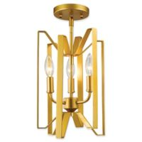 Filament Design Carroll 3-Light Ceiling-Mount Pendant in Gold