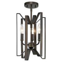 Filament Design Carroll 3-Light Ceiling-Mount Pendant in Bronze