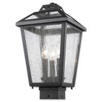 Filament Design Bayla Post-Mount Outdoor Light in Black