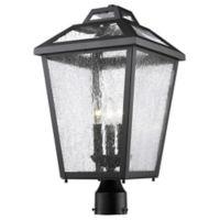 Filament Design Bayla Outdoor Post Lantern in Black