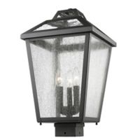 Filament Design Bayla Outdoor Post-Mount Light in Black