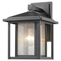 Filament Design Diana 1-Light Outdoor Wall Sconce in Black