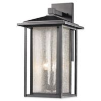 Filament Design Diana 3-Light Outdoor Wall Sconce in Black