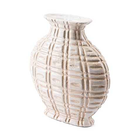 image of Zuo® Kaban Short Vase in Ivory