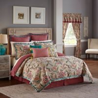 Waverly® Key of Life Reversible Queen Comforter Set in Red
