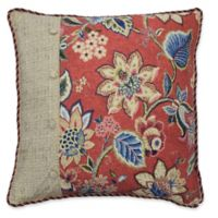 Waverly® Brighton Blossom European Pillow Sham in Red