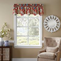 Waverly® Brighton Blossom Window Valance in Red