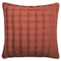 Waverly® Brighton Blossom Pintuck Throw Pillow in Orange