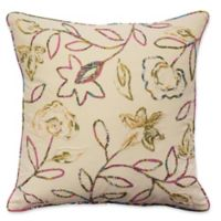 Waverly® Key of Life Floral Square Throw Pillow in Ivory