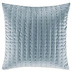 Stone Cottage Micromink Pickstitch Square Throw Pillow in Blue