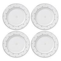 "kate spade new york Larabee Road™ Platinum Monogram Letter ""A"" Tidbit Plates (Set of 4)"