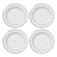 """kate spade new york Larabee Road™ Platinum Monogram Letter """"V"""" Tidbit Plates (Set of 4)"""