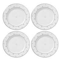 "kate spade new york Larabee Road™ Platinum Monogram Letter ""U"" Tidbit Plates (Set of 4)"